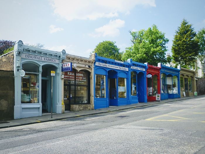 A row of lovely Victorian shops on Morningside Road