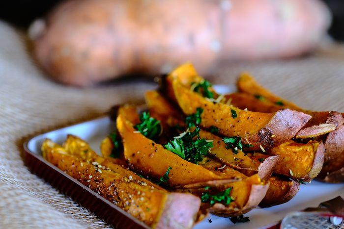 Mediterranean Baked Sweet Potato