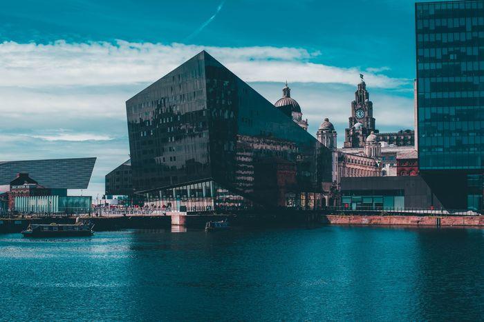 Peel Island building at Liverpool Docks
