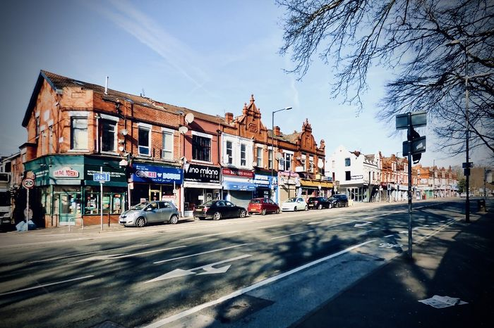 Wilmslow Road - one of the main streets of the Fallowfield, offers a wide variety of takeaways, pubs and shops.