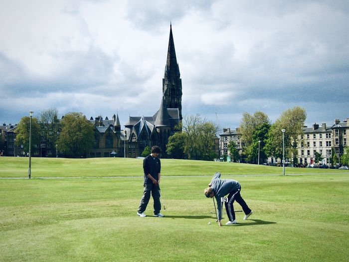 There are several beautiful public parks near Tollcross. One of them is Bruntsfield Links where you can play miniature golf in your spare time.
